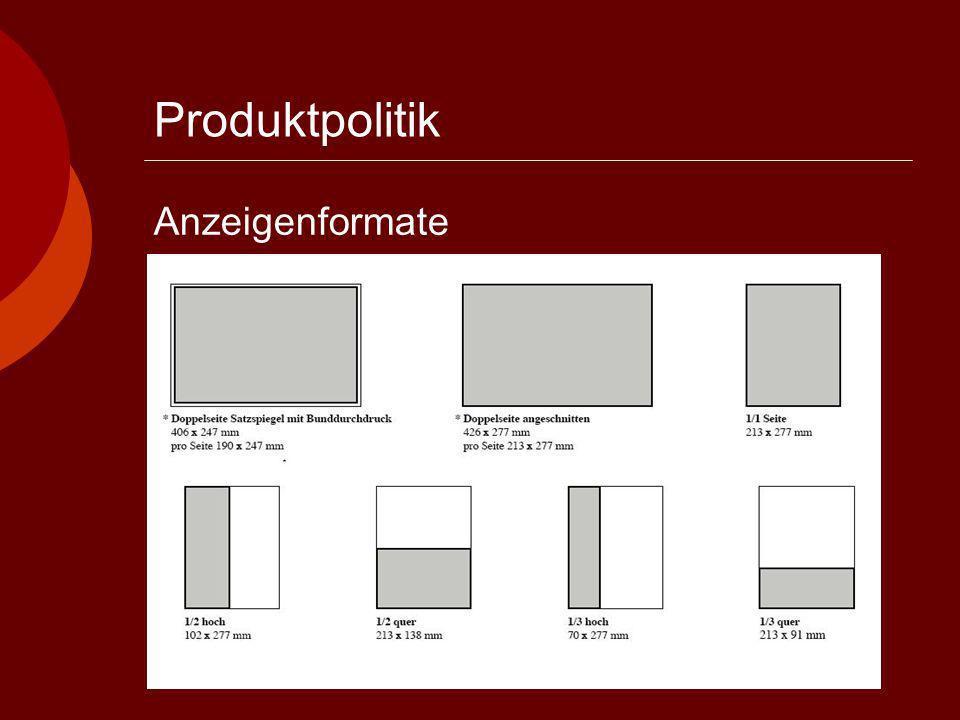 Produktpolitik Anzeigenformate