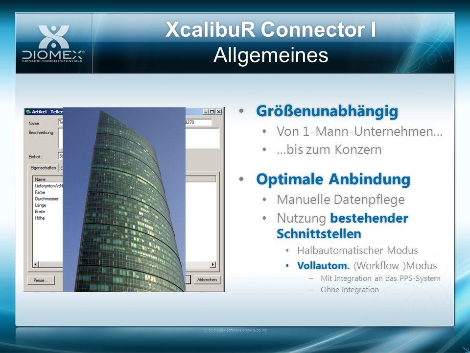XcalibuR Connector I Allgemeines Größenunabhängig Größenunabhängig Von 1-Mann-Unternehmen… Von 1-Mann-Unternehmen… …bis zum Konzern …bis zum Konzern O