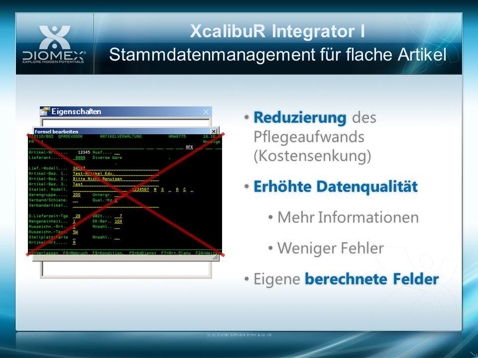 XcalibuR Integrator I Stammdatenmanagement für flache Artikel Reduzierung des Pflegeaufwands (Kostensenkung) Reduzierung des Pflegeaufwands (Kostensen