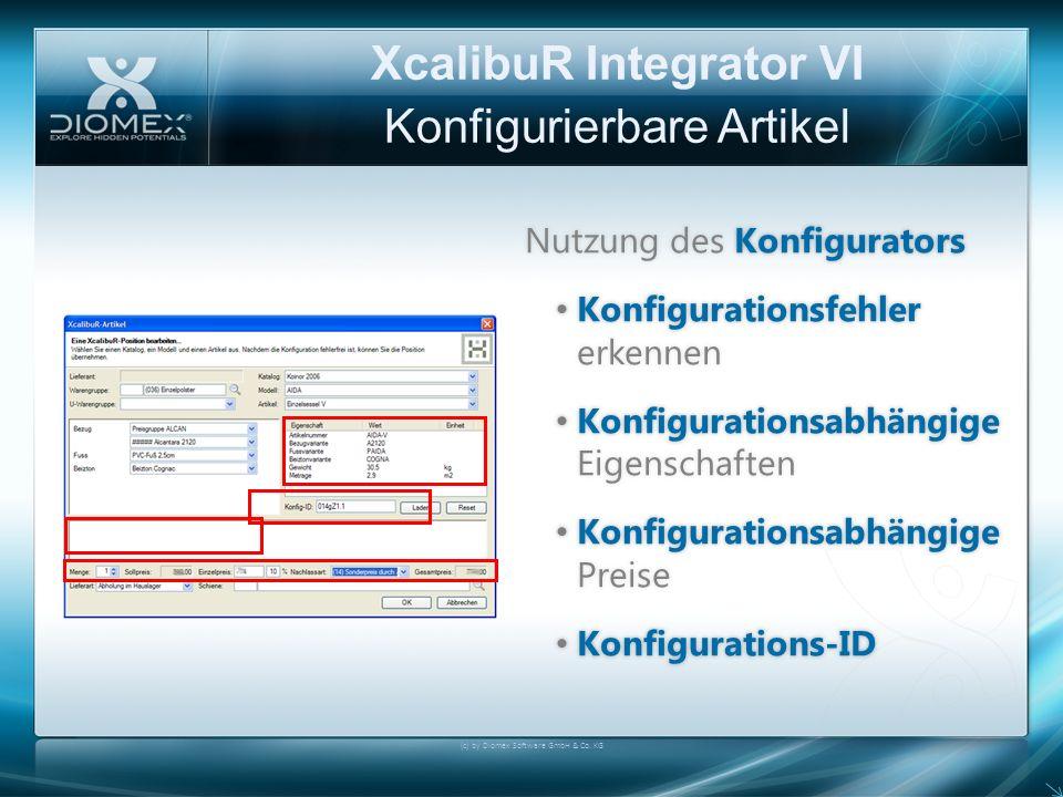 XcalibuR Integrator VI Konfigurierbare Artikel Nutzung des KonfiguratorsNutzung des Konfigurators Konfigurationsfehler erkennen Konfigurationsfehler e