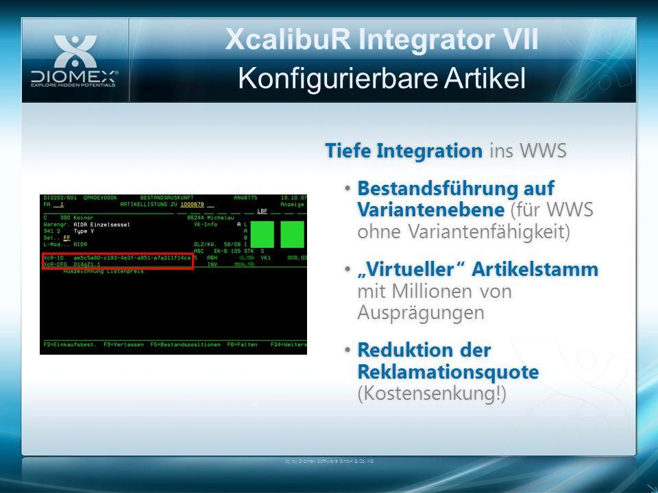 XcalibuR Integrator VII Konfigurierbare Artikel Tiefe Integration ins WWSTiefe Integration ins WWS Bestandsführung auf Variantenebene (für WWS ohne Va