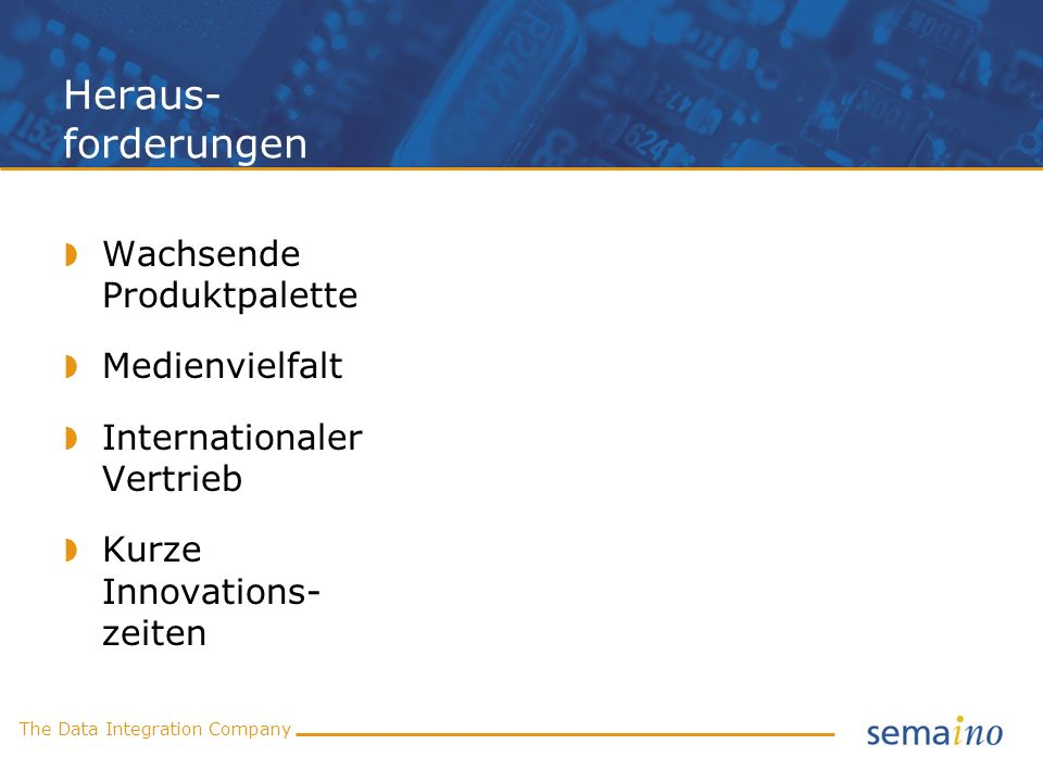 The Data Integration Company Mediator: Datendrehscheibe EXCEL BMEcat eClass ETIM ProfiClass SAP PDM Mediator