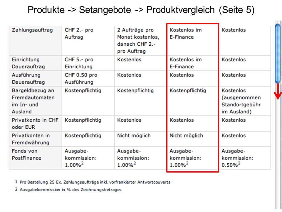 Produkte -> Setangebote -> Produktvergleich (Seite 5)
