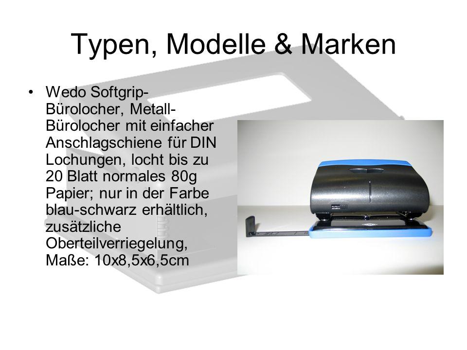 Typen, Modelle & Marken Wedo Softgrip- Bürolocher, Metall- Bürolocher mit einfacher Anschlagschiene für DIN Lochungen, locht bis zu 20 Blatt normales