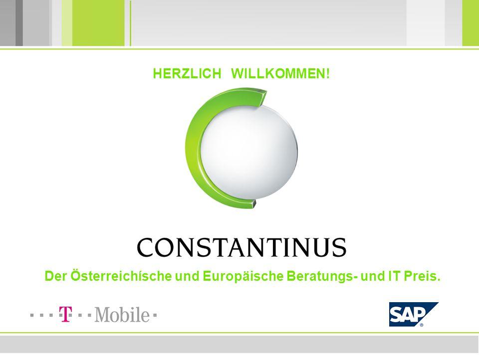 CONSTANTINUS www.constantinus.net HERZLICH WILLKOMMEN! Der Österreichísche und Europäische Beratungs- und IT Preis.