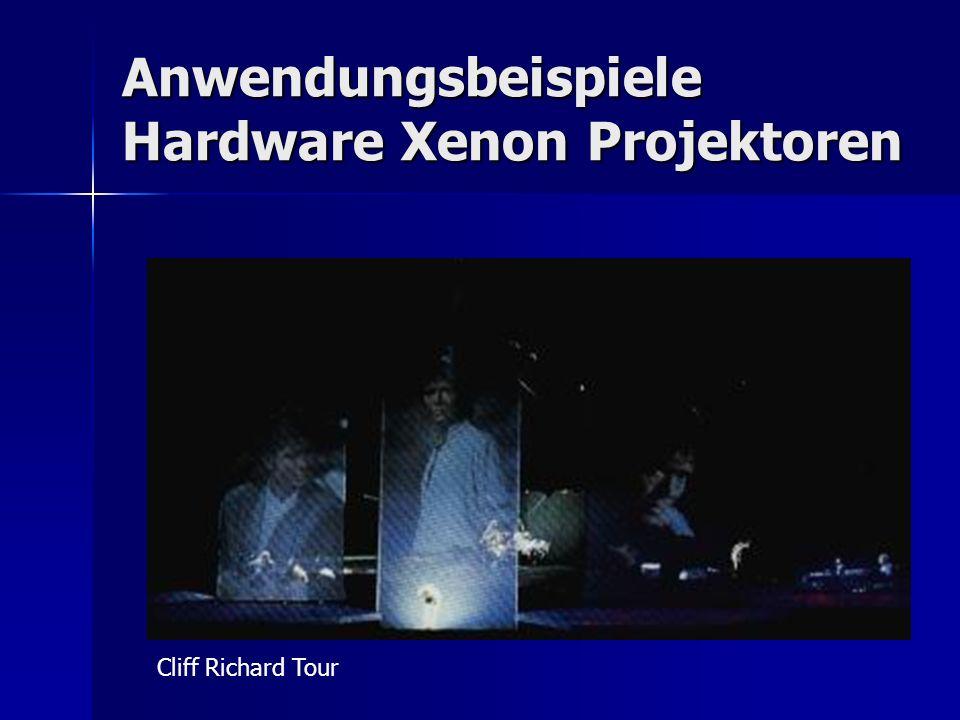 Anwendungsbeispiele Hardware Xenon Projektoren Cliff Richard Tour