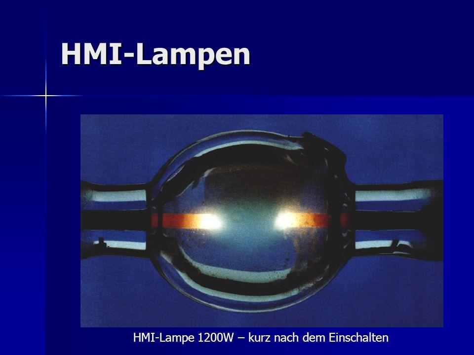 HMI-Lampen HMI-Lampe 1200W – kurz nach dem Einschalten