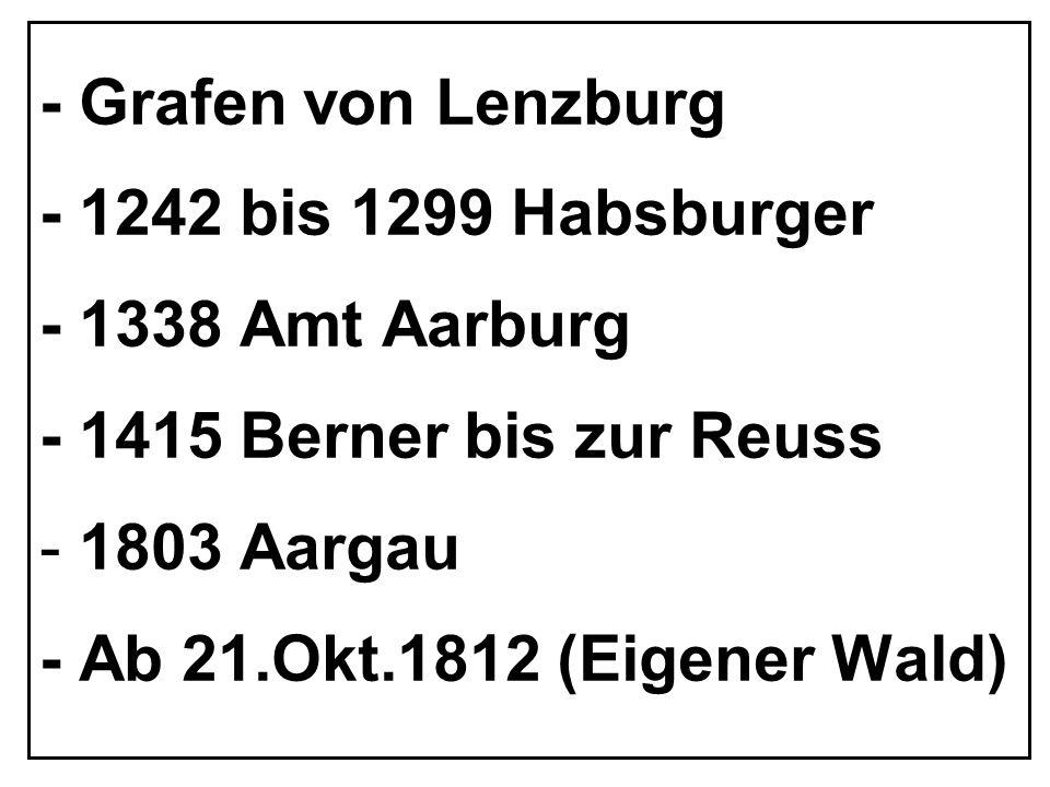 WALDGRENZEN NACH DEM FRANZOSENEINFALL 1798