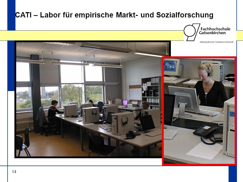 14 CATI – Labor für empirische Markt- und Sozialforschung