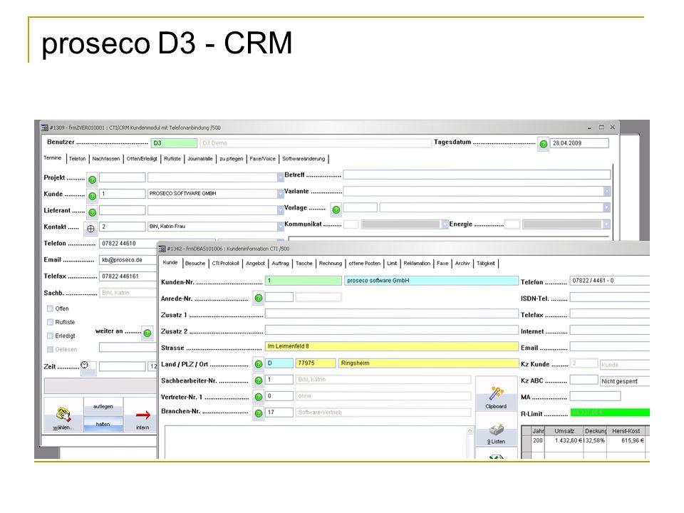proseco D3 - CRM
