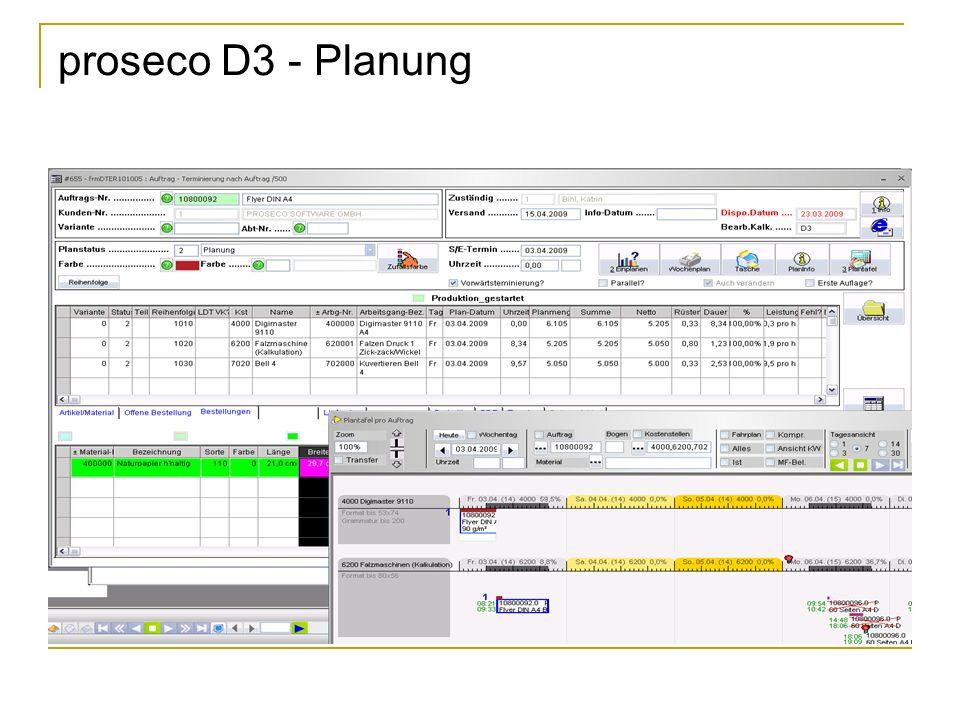 proseco D3 - Planung