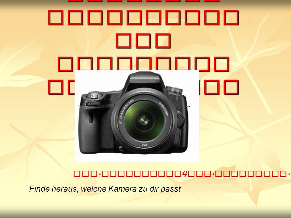 Herzlich Willkommen zur digitalen Fotografie Finde heraus, welche Kamera zu dir passt www.