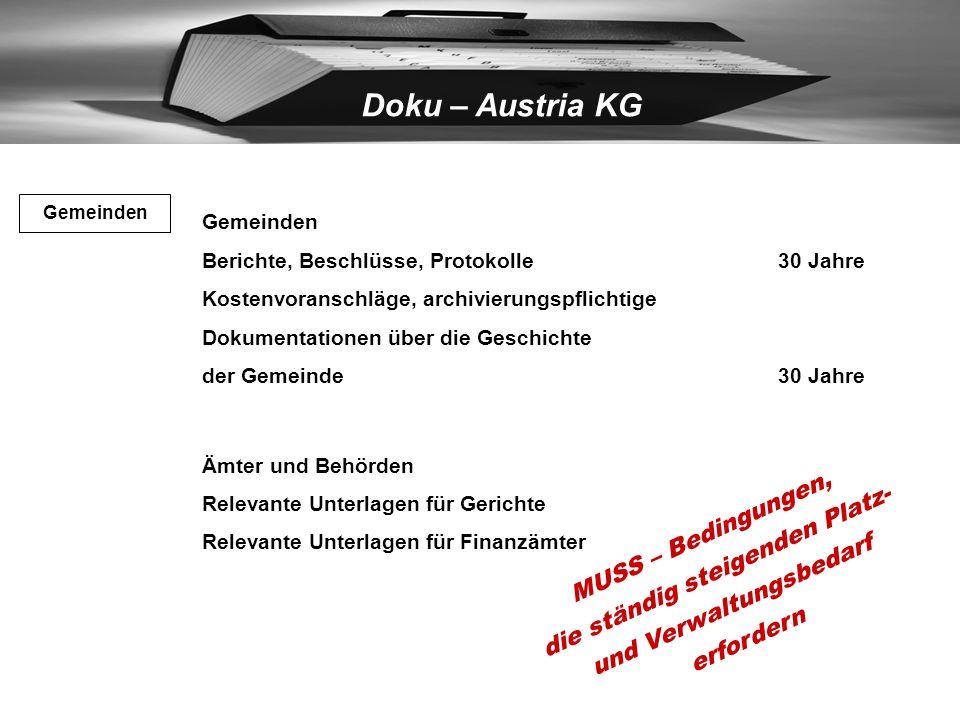 Doku – Austria KG –Zeugnisse 50 Jahre –alle notwendigen aufbewahrungspflichtigen Unterlagen50 Jahre Schulen