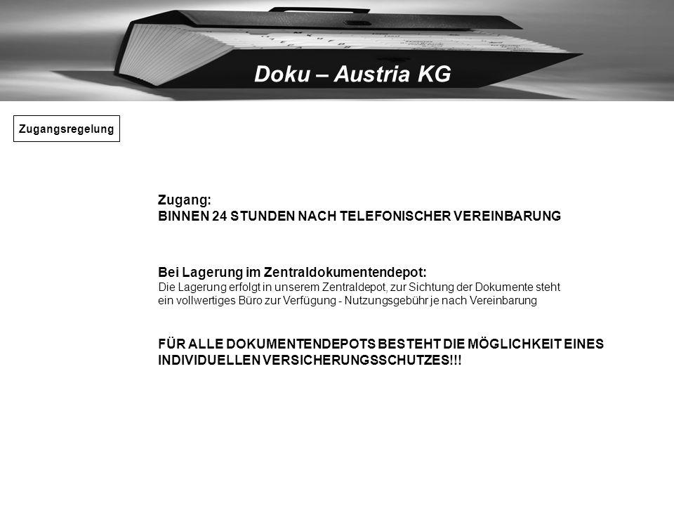 Doku – Austria KG Ihre derzeitigen Eigenlagerungskosten in Eigenbetriebsfläche 1m² Kosten für durchschnittlichen Lagerbedarf Lagerhöhe ca. 3m, 3m³, p.