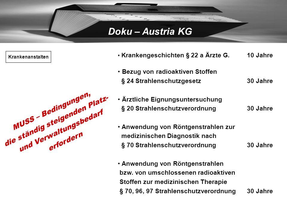 Doku – Austria KG - Begutachtung der Ware - Schnelles, flexibles Angebot - Reibungsloser Ablauf der Lagerung Zusatzleistungen: - Sortieren nach Jahrga