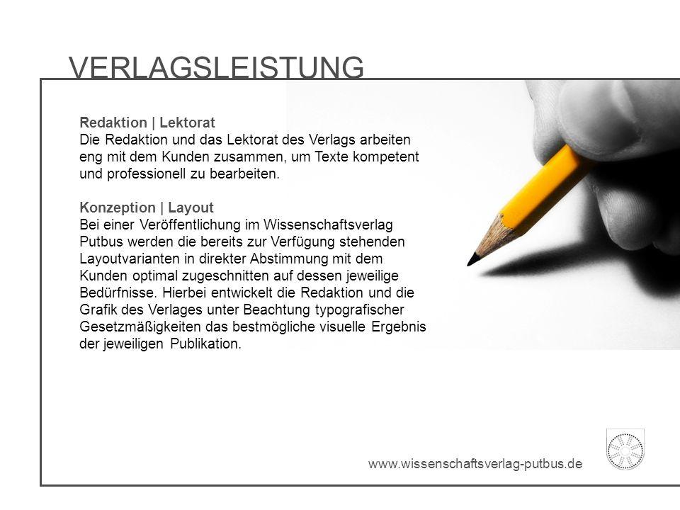VERLAGSLEISTUNG Redaktion | Lektorat Die Redaktion und das Lektorat des Verlags arbeiten eng mit dem Kunden zusammen, um Texte kompetent und professio