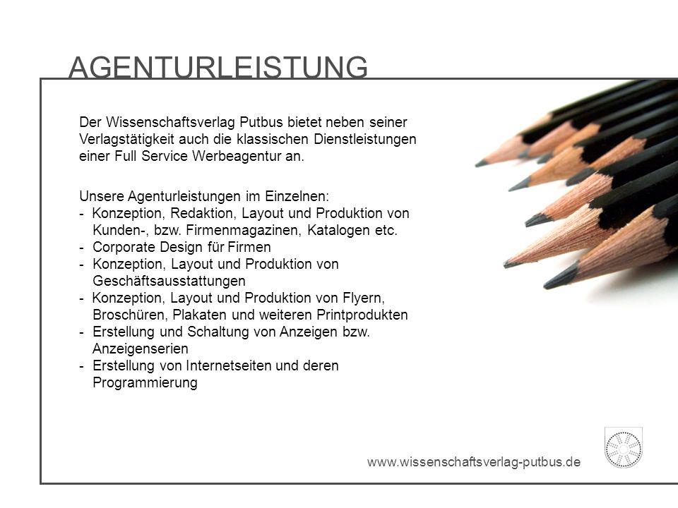 AGENTURLEISTUNG Unsere Agenturleistungen im Einzelnen: - Konzeption, Redaktion, Layout und Produktion von Kunden-, bzw. Firmenmagazinen, Katalogen etc
