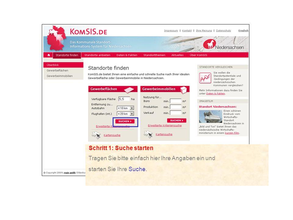 Schritt 2: Auswahl treffen Die Liste bietet einen schnellen Überblick und ist über die roten Dreiecke in der Titelleiste sortierbar.