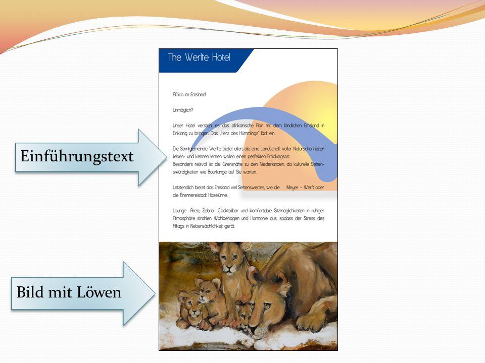 Einführungstext Bild mit Löwen