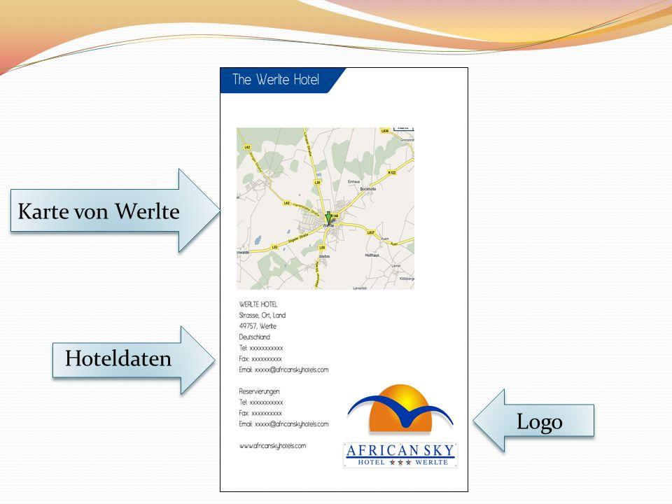 Karte von Werlte Hoteldaten Logo