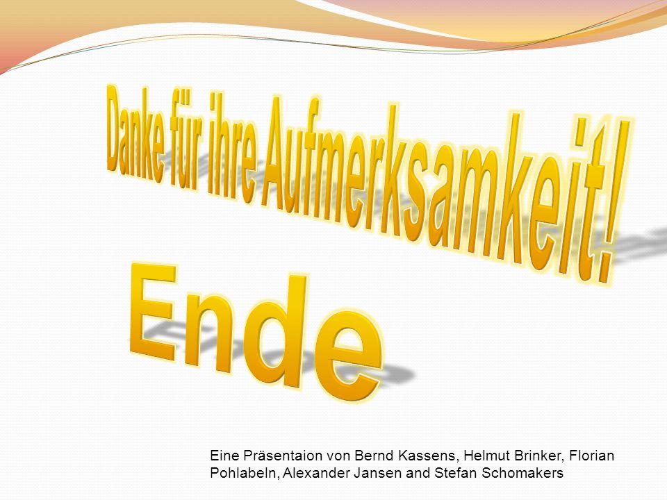 Eine Präsentaion von Bernd Kassens, Helmut Brinker, Florian Pohlabeln, Alexander Jansen and Stefan Schomakers