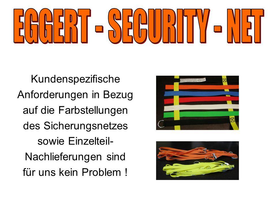 Kundenspezifische Anforderungen in Bezug auf die Farbstellungen des Sicherungsnetzes sowie Einzelteil- Nachlieferungen sind für uns kein Problem !