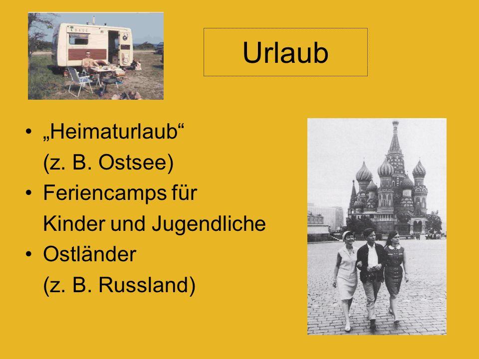 Heimaturlaub (z. B. Ostsee) Feriencamps für Kinder und Jugendliche Ostländer (z.