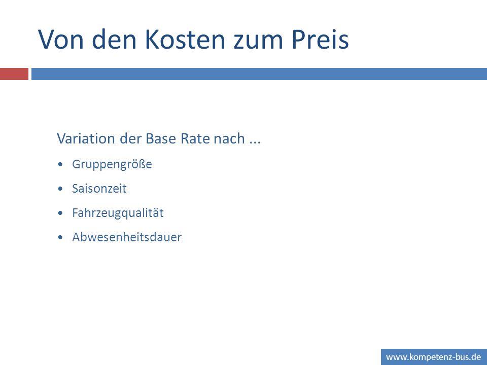 www.kompetenz-bus.de Von den Kosten zum Preis Variation der Base Rate nach...