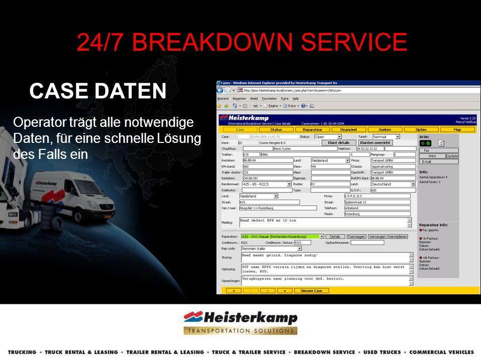AUFTRAGSFAX FÜR WERKSTATT 24/7 BREAKDOWN SERVICE Via Fax oder Email (5 Sprachen vorhanden) bekommt die Werkstatt alle Daten und auch unsere Zahlungsgarantie