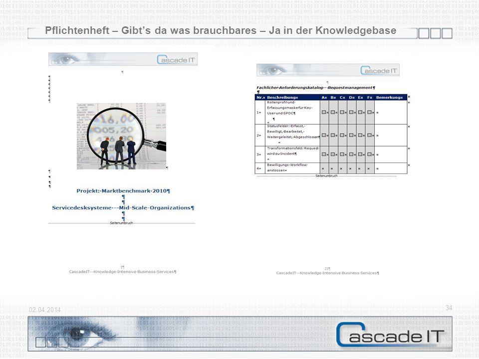 Pflichtenheft – Gibts da was brauchbares – Ja in der Knowledgebase 02.04.2014 34
