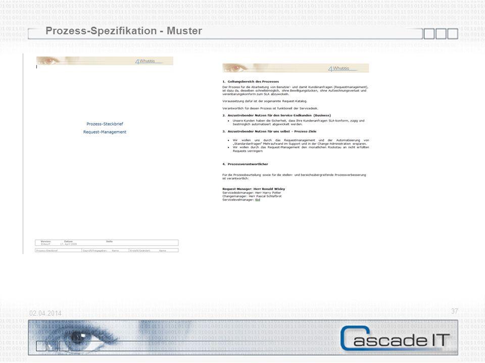 Prozess-Spezifikation - Muster 02.04.2014 37