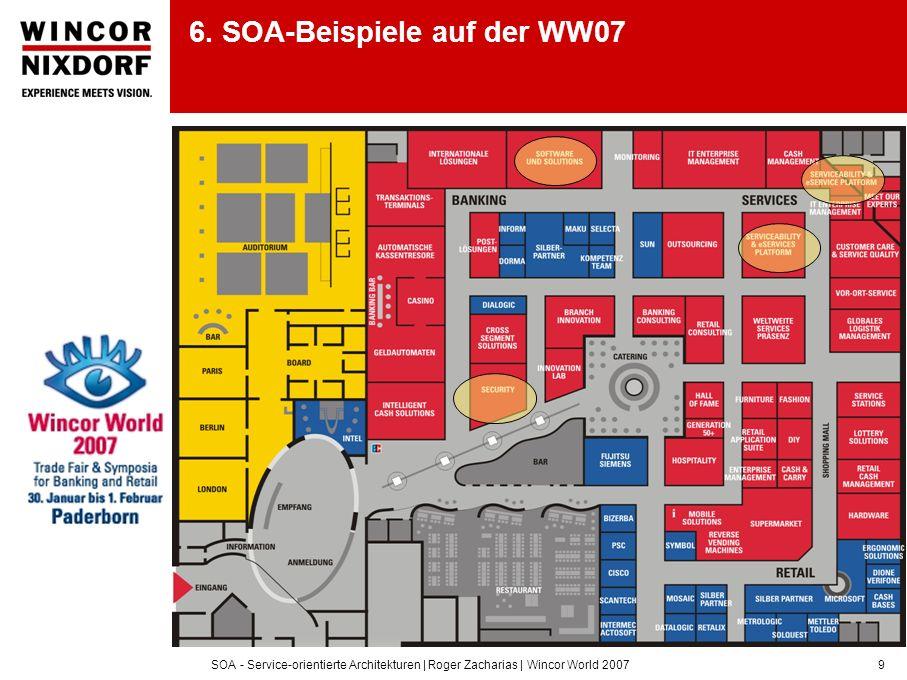 SOA - Service-orientierte Architekturen | Roger Zacharias | Wincor World 20079 6. SOA-Beispiele auf der WW07
