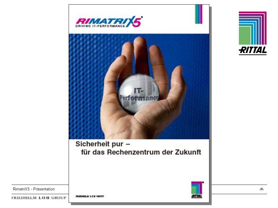 RimatriX5 - Präsentation32 Service RimatriX5 Service 4 verschiedene Service-Pakete wählbar, zur Erhöhung der Systemverfügbarkeit und der System-Lebensdauer, mit Definierten Hotline-Zeiten Definierten Reaktionszeiten Pro-aktiver Wartung Teilemanagement Definierter Arbeits- und Fahrtzeit- berechnung...