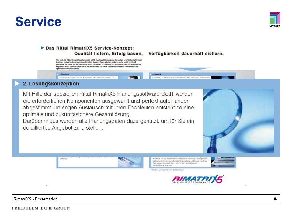 RimatriX5 - Präsentation27 Service