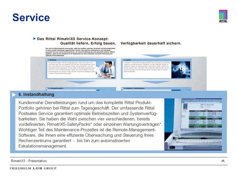 RimatriX5 - Präsentation31 Service