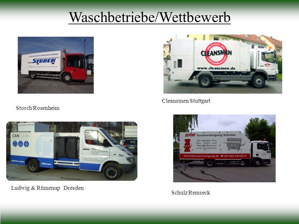 Waschbetriebe/Wettbewerb Storch Rosenheim Cleansmen Stuttgart Ludwig & Rümenup Dresden Schulz Remseck