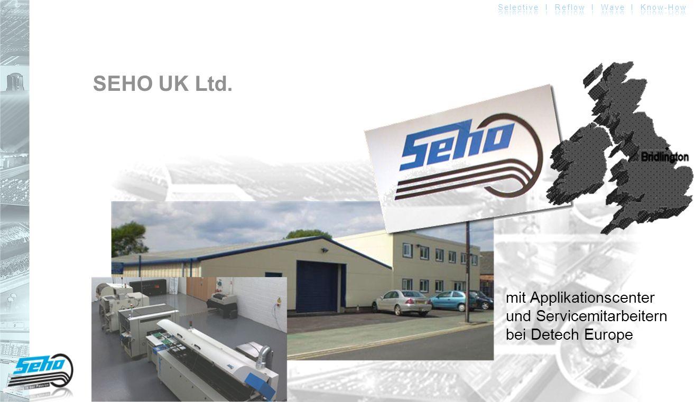 SEHO UK Ltd. mit Applikationscenter und Servicemitarbeitern bei Detech Europe