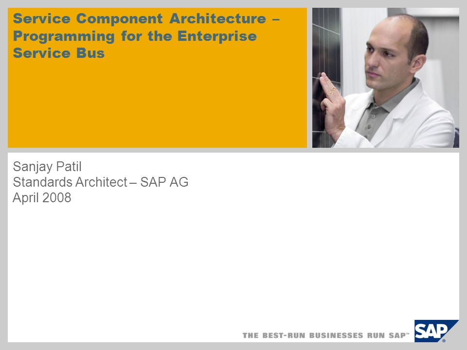 © SAP 2007 / Page 2 1.ESB Scenarios 2.Why does ESB need SCA? 3.SCA for ESB Programming Agenda