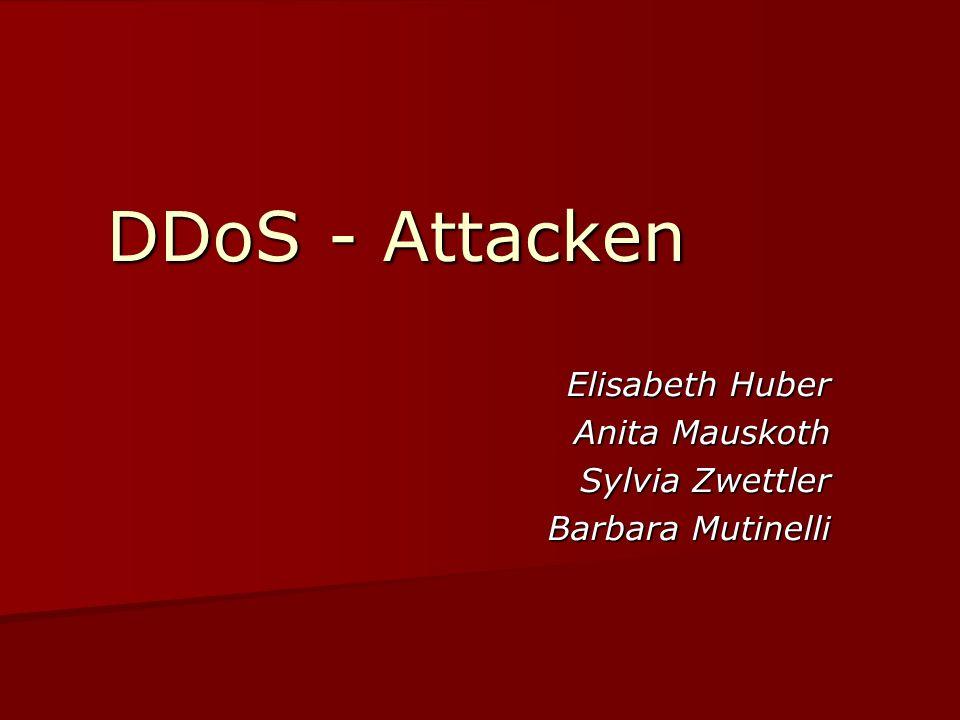 DDoS - Attacken Elisabeth Huber Anita Mauskoth Sylvia Zwettler Barbara Mutinelli