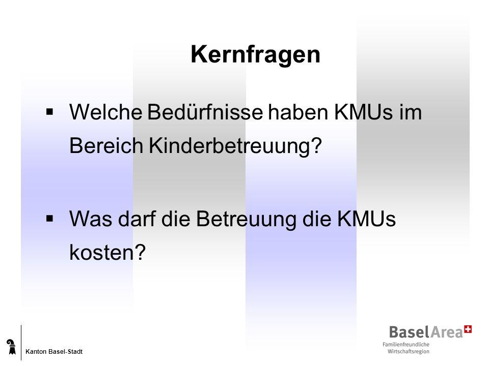 Kanton Basel-Stadt Kernfragen Welche Bedürfnisse haben KMUs im Bereich Kinderbetreuung.