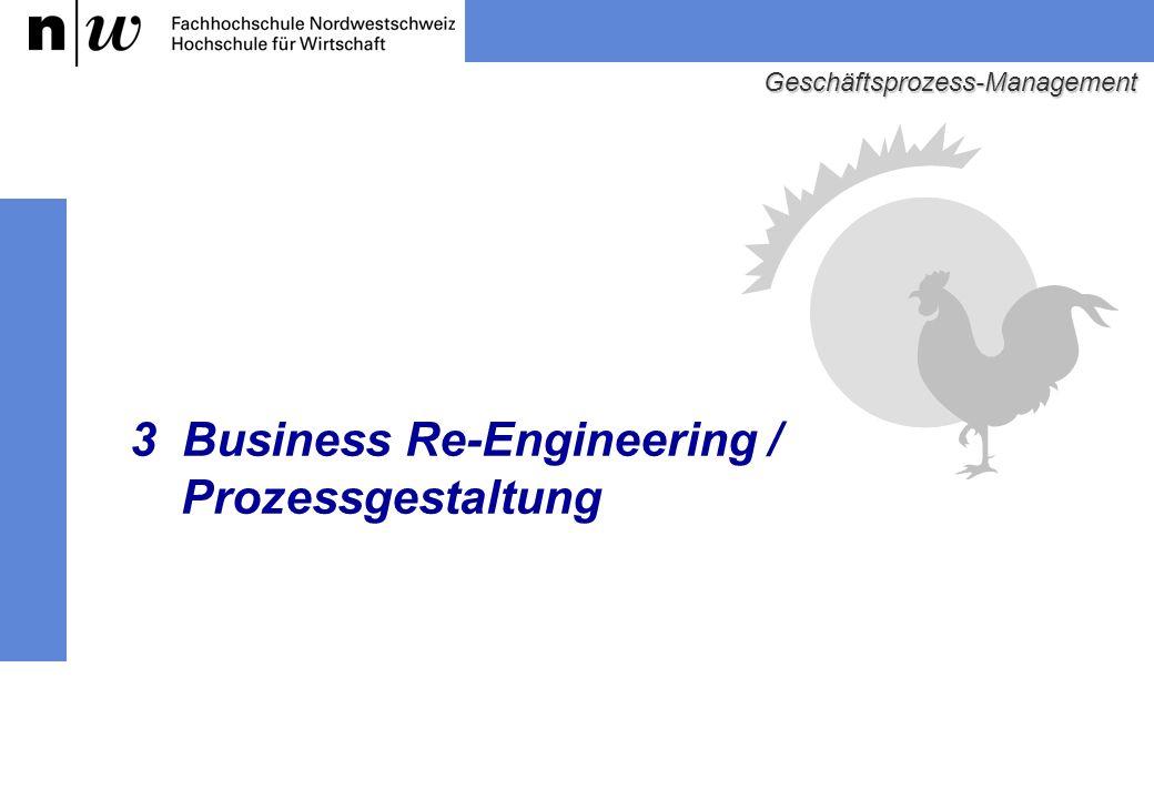 3 Business Re-Engineering / Prozessgestaltung Geschäftsprozess-Management