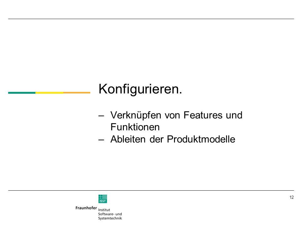 12 Konfigurieren. –Verknüpfen von Features und Funktionen –Ableiten der Produktmodelle