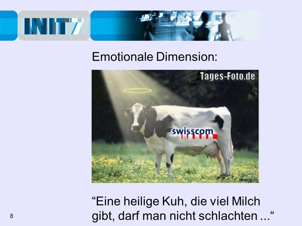 Emotionale Dimension: Eine heilige Kuh, die viel Milch gibt, darf man nicht schlachten... 8