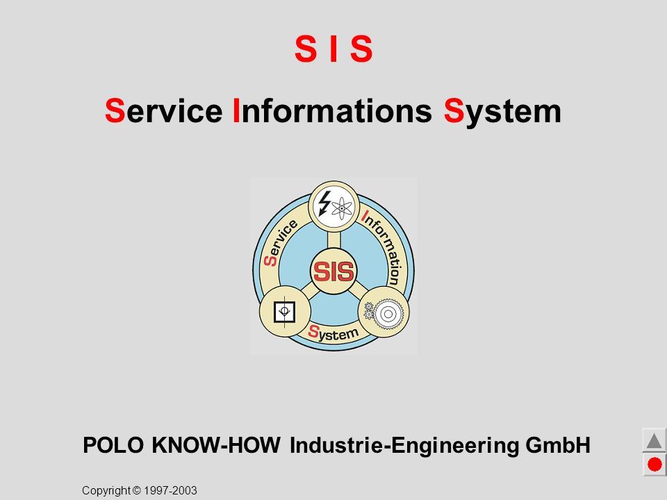 S I S Service Informations System POLO KNOW-HOW Industrie-Engineering GmbH Copyright © 1997-2003 For more details click to the flag