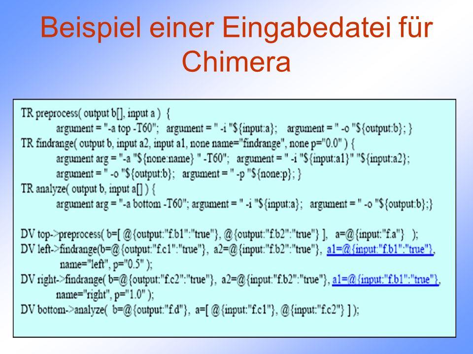 Beispiel einer Eingabedatei für Chimera
