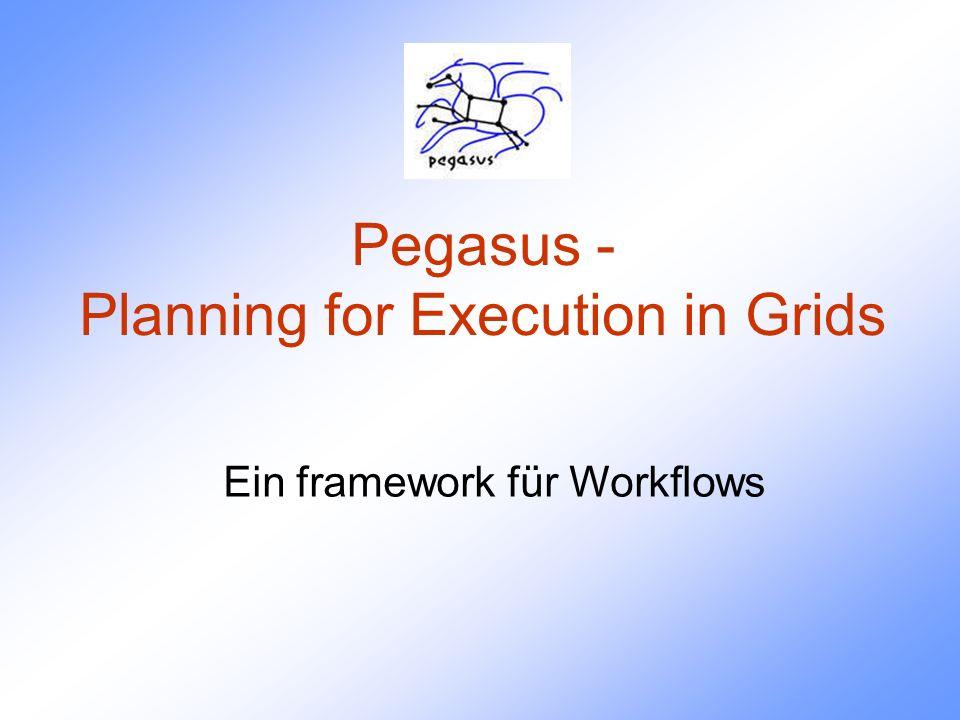 Überblick Flexibles framework Konfigurierbares System, das plant, vorbereitet und Workflows ausführt –Algorithmische und KI Techniken kommen zum Einsatz Unterstützt eine Reihe von Programmen zur Ausführung von Workflows