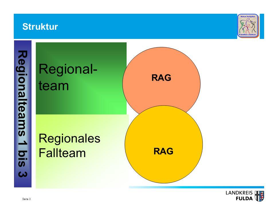 Seite 3 Struktur Regional- team Regionales Fallteam RAG Regionalteams 1 bis 3