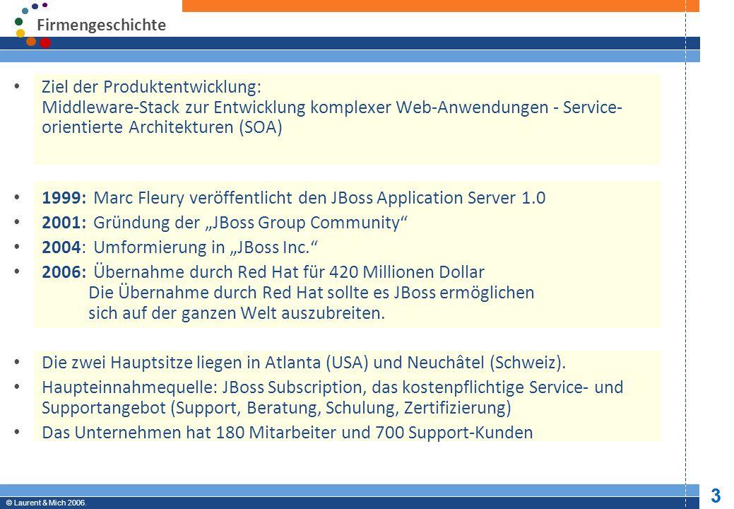 © JBoss, Inc.2003-2005. 14 Professional Open Source © Laurent & Mich 2006.