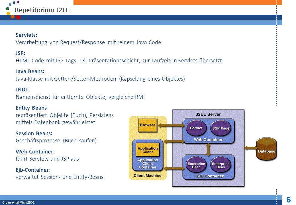 © JBoss, Inc. 2003-2005. 7 Professional Open Source © Laurent & Mich 2006. 7 Komponenten von JBoss