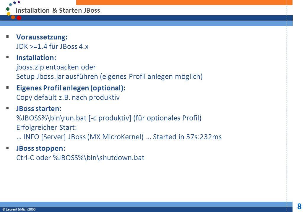© JBoss, Inc.2003-2005. 19 Professional Open Source © Laurent & Mich 2006.